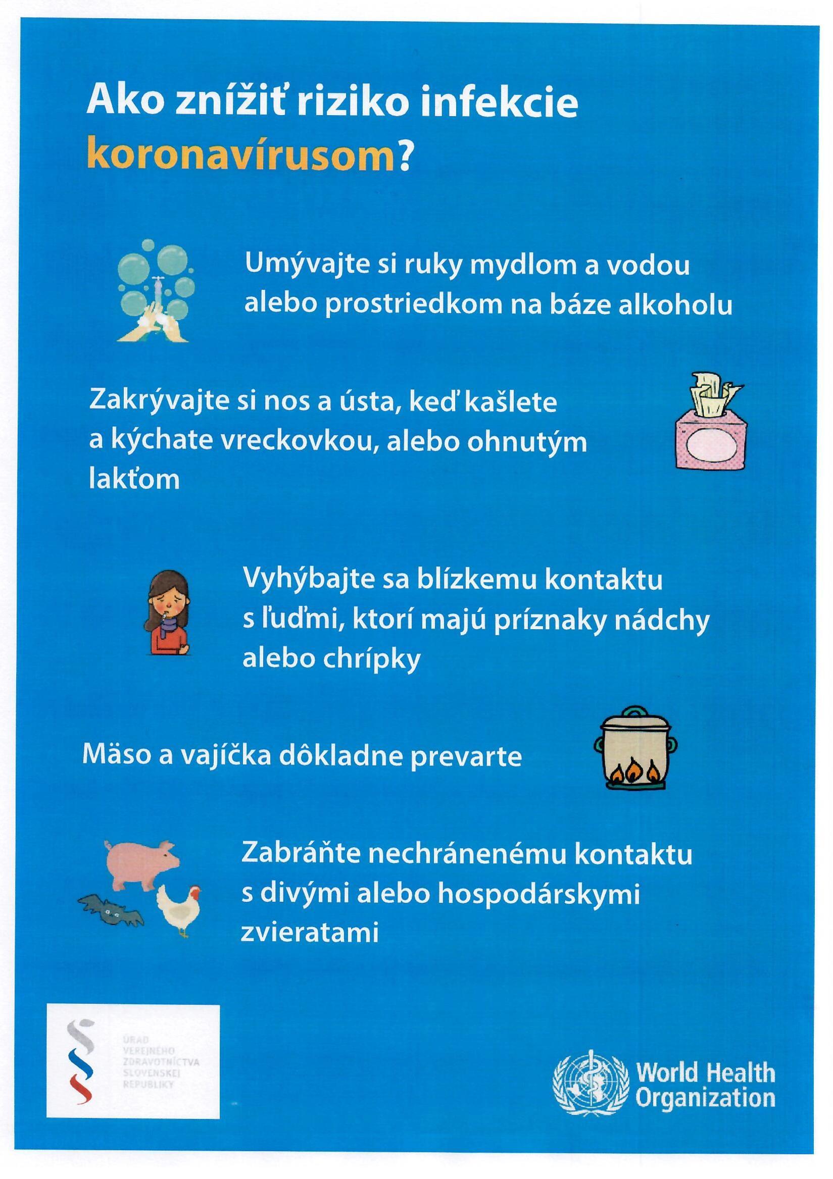 Információs anyag - KORONAVÍRUS - Informačný materiál 4