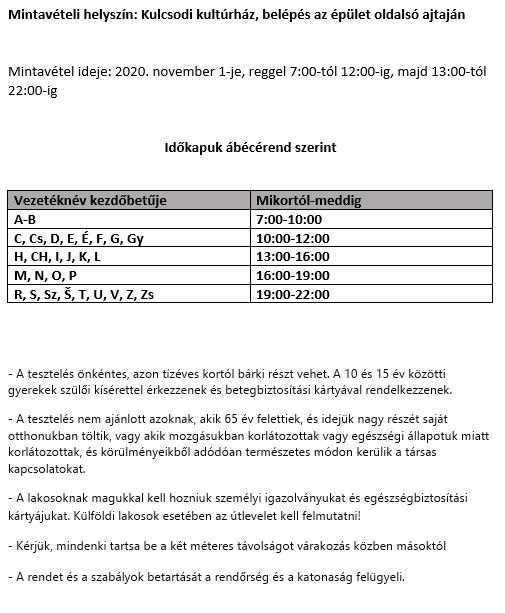 Covid-19-tesztelés - Információk a kulcsodiaknak 5