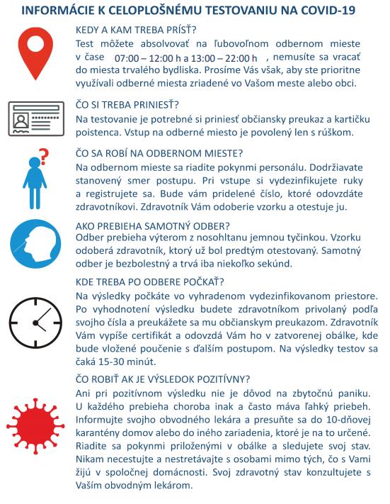 Testovanie na Covid-19 - informácie pre Kľúčovčanov 3